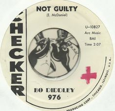 BO DIDDLEY Not Guilty / Aztec NORTHERN SOUL BLUES R&B BOPPER PROMO WLP 45 RPM NM