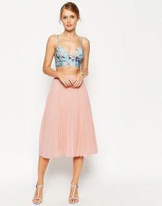 ASOS | ASOS Pleated Midi Skirt