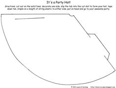 Printable Party Hat Template