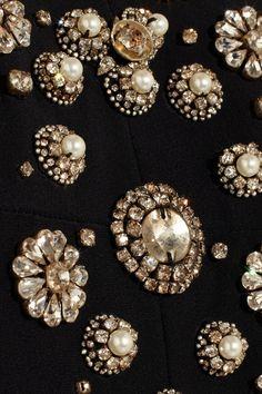 Alexander McQueen | Crystal-embellished crepe mini dress