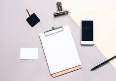 Mockup business stationery and phone by Nuchylee Photo on @creativemarket