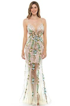 a0032fd83fb Forever Unique IDA Embellished Floral Gown – Hire That Look