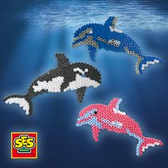 SES creative 06114 - Bügelperlenset Delphin