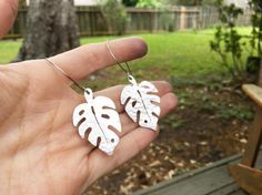 Hey, I found this really awesome Etsy listing at https://www.etsy.com/uk/listing/518933251/monstera-earrings-metal-monstera-leaf