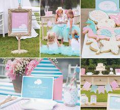 kindergeburtstag mädchen deko ideen meerjungfrauen