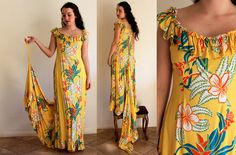 1940s Hawaiian Dress / Paradise Cove Gown / by CaramelVintage