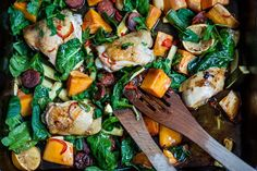 8 Chorizo Recipes for Winter – Great British Chefs – Spain/Portugal – … - Roasted Chicken Roast Chicken And Chorizo, Roasted Chicken Wings, Roast Chicken Recipes, Chicken Thigh Recipes, Spinach Stuffed Chicken, Sous Vide Vegetables, Cooking Recipes, Healthy Recipes, Cooking Ideas