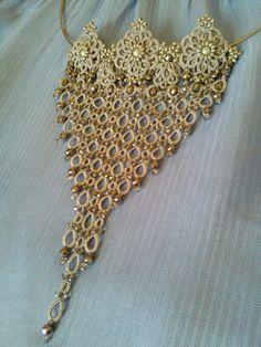 Tatting Patterns, Crochet Necklace, Beads, Craft, Crochet Throw Pattern, Lace, Bangle Bracelets, Patterns, Accessories