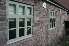 Painted Green New Timber Windows by www.brownsjoineryltd.com