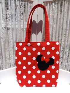 Small Tote Bag  - Minnie Mouse Inspired