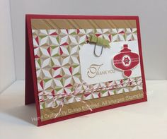 Stampin' Fun with Diana: 30 Days of Gratitude Card Challenge: Day 22, Lacy and Lovely, Christmas Collectibles, Christmas, Card, Stampin' Up, Diana Eichfeld