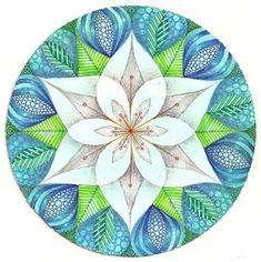 Mandala ~ by Artist Margaret Bremner, Certified Zentangle Teacher Mandala Art, Mandala Doodle, Mandala Drawing, Doodle Art, Flower Mandala, Mandala Pattern, Arte Mandela, Tangle Art, Zen Art
