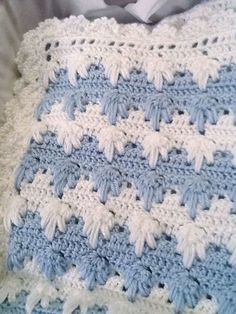 Baby Afghan --Found the pattern written out in English (UK terms): http://rosiemrogers.co.uk/tag/crochet-pattern/