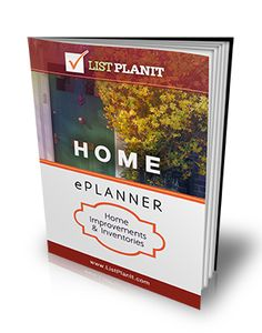 Home ePlanner: Home Inventories & Improvements.  Just $5 for 55 pages of printable lists | ListPlanIt.com