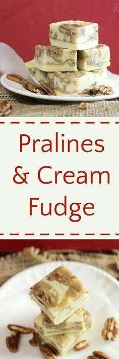 Pralines & Cream Fudge http://RoseBakes.com
