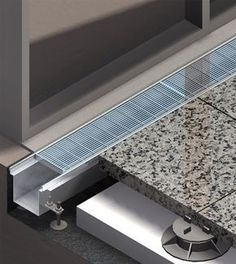 Facade, Threshold & Balcony drains. Exterior drainage / Surface water