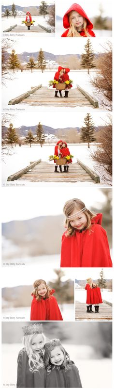 How gorgeous is this little girl?  I love these photos!!    Itty-Bitty Portraits