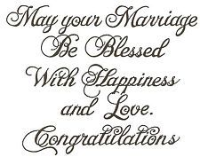 Marriage Congratulations Text Wood Mounted Rubber Stamp Northwoods New M