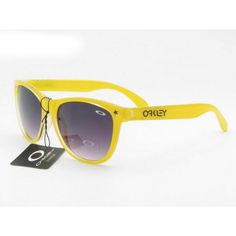 $12.99 Cheap Oakley Frogskins Sunglasses Yellow Frame Black Lens Us Outlet Deal www.racal.org Oakley Frogskins, Sunglasses Sale, Lens, Yellow, Purple, Shopping, Black, Frames, Crystal