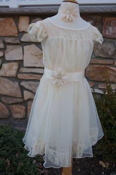 ivory Flower Girl Wedding Dressivory Lace Dress by AmazinGems