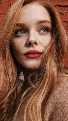 Pinterest - @coppermakeup  pretty red hair and orange-red lipstick #redlipstick