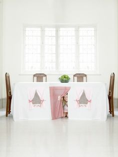 Nothing could be easier than draping a large sheet or table cloth over a table to create a secret play space for your kids. Great for an indoor activity - underneath a kitchen table is a waste of space, it can be made into a resourceful area for your kids play!