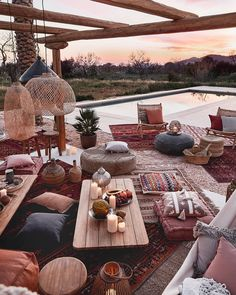 Bohemian Decor Ideas for Outdoor Patio Space Pergola Patio, Backyard Patio, Gazebo, Patio Awnings, Outdoor Spaces, Outdoor Living, Outdoor Decor, Outdoor Patios, Outdoor Kitchens