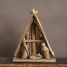 Driftwood Nativity Scene with Creche : Target Nativity Scene Sets, Nativity Stable, Diy Nativity, Christmas Nativity Set, Vintage Christmas, Christmas Crafts, Modern Nativity Set, Christmas Printables, Driftwood Projects