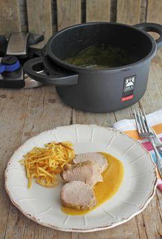 Solomillo a la naranja en olla rápida , una manera deliciosa de preparar el solomillo. Y esta receta es más que rápida, hecha sólo en d...