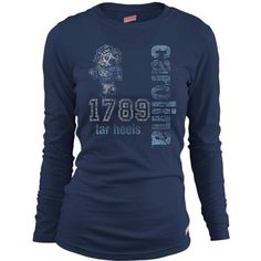 Soffe Unc Tar Heels Women's Long Sleeve T-Shirt Extra Large $22.00