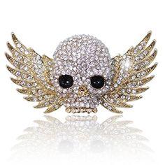 EVER FAITH Cute Gold-Tone Skull Wing Brooch Clear Austrian Crystal http://www.amazon.com/dp/B00ID4XUH0/ref=cm_sw_r_pi_dp_3NjUvb0EHHDAQ