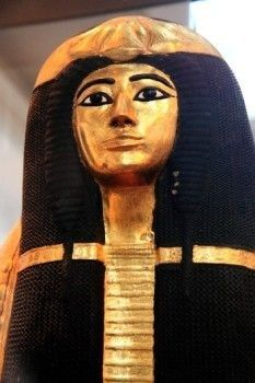 England, London, British Museum. Inner Coffin Of Henutmehyt From The Tomb Of Henutmehyt, Thebes, Egypt BHE