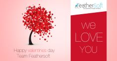 How Feathersoft wished their Fans on Valentines Day