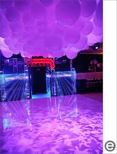 Arcade with Balloon Ceilings, Bar Mitzvah Party Entertainment {Eclectic Images} - mazelmoments.com