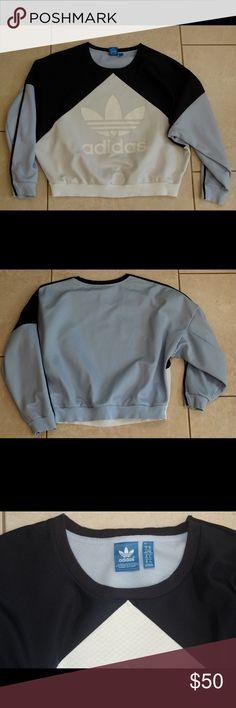 Adidas tricolor sweatshirt Dark blue, light blue, and white. Light weight sweatshirt Adidas Jackets & Coats