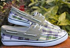Sperry-Top-Sider-Plaid-Bahama-Canvas-Lace-Up-Oxford-Boat-Shoes-Women-5