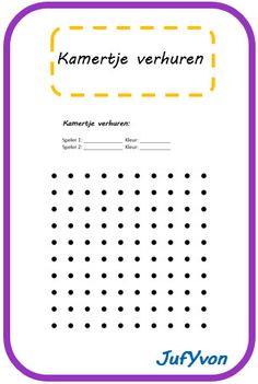 Och ja, dat deden we vroeger uuuuuuren lang! ©JufYvon: 2 leuke spelletjes (kamertje verhuren) School Tool, School Teacher, Primary Education, Primary School, Creative Teaching, Teaching Kids, Busy Boxes, School 2017, Great Schools