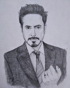 Tony from my hand Iron Man Avengers, Avengers Art, Avengers Characters, Marvel Art, Cool Art Drawings, Art Drawings Sketches, Pencil Drawings, Ironman Sketch, Marvel Fight