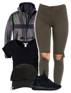 """Untitled #941"" by trinsowavy ❤ liked on Polyvore featuring adidas, Estradeur, StyleNanda and Fallon"