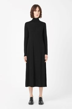 merino wool turtleneck dress from cos