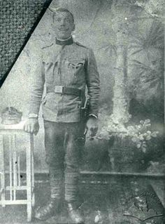Ruthenian in Austrian uniform. Berezhany (now Ternopil oblast of Ukraine)