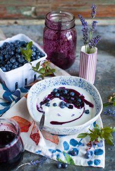 Blueberry Lavender Preserves - Simple Bites Plum Butter, Culinary Lavender, Victoria Sponge Cake, Berry Sauce, Cream Scones, Fruit Preserves, Wild Blueberries, Best Breakfast Recipes, Food Test