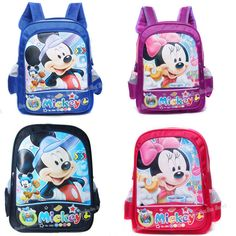 shij mickey minnie cartoon princess children school bags school bags $6.00