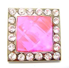 "Western Cowgirl Pink Rhinestone Concho For Leather 1.5"" Beltsbootsbling.Com - $6.95"