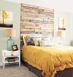 Buy or DIY: 12 Creative Wood Headboards