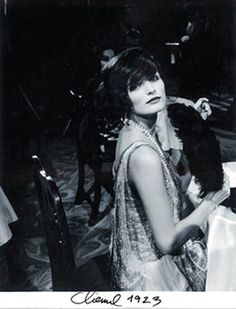 Gabrielle 'Coco' Chanel (40) - 1923 - Paris Nightclub. She looks different here than in most pictures... very young and innocent (esp for a lady of 40! :)