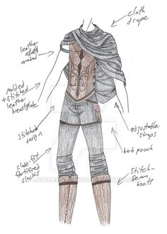 PLEASE NOTE: I do not allow any use of my designs. for Raphael; archangel, healer, and occasional spear-fighter. The chest-plate (for awkward lack of proper word...) is worked leather, but it's for...