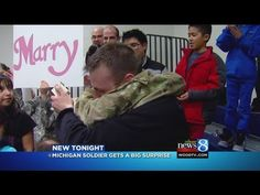 [VIDEO] Man Welcomes Home Soldier Girlfriend With Surprise Marriage Proposal Groom Tux, Bride Groom, Surprise Military Homecomings, Welcome Home Soldier, Video Man, Kalamazoo Michigan, Buy Pictures, Prom Dance, Romantic Proposal