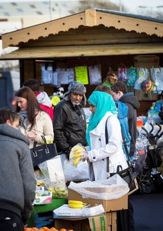 Shoppers at Rochdale Market.