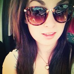 Our sensational competition winner Leah, sporting her sunnies from the MIX.